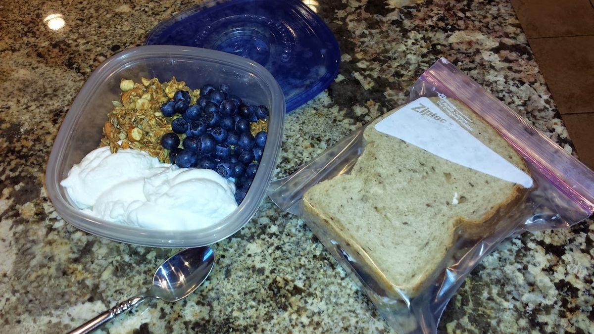 Yogurt and Granola Breakfast